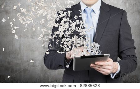 Businessman Is Using A Tablet