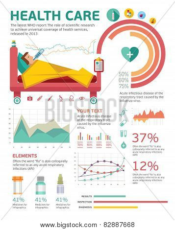 Medical, health healthcare icons and data elements, infographic