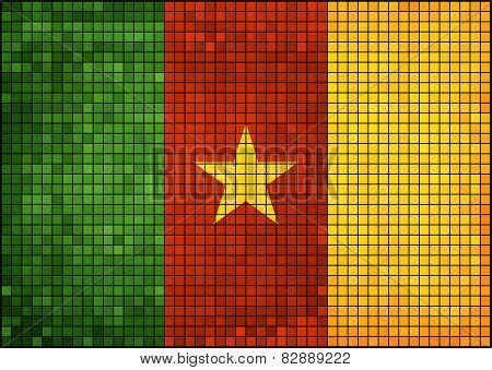 Abstract Mosaic Flag of Cameroon