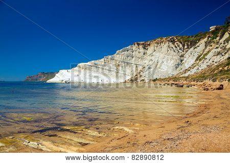 White Cliff Named Scala Dei Turchi