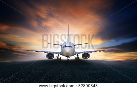 Air Plane Preparing To Take Off On Airport Runways Use For Air Transpor And Airliner Business Travel