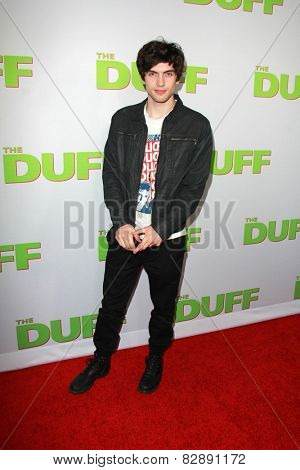 LOS ANGELES - FEB 12:  Carter Jenkins at the