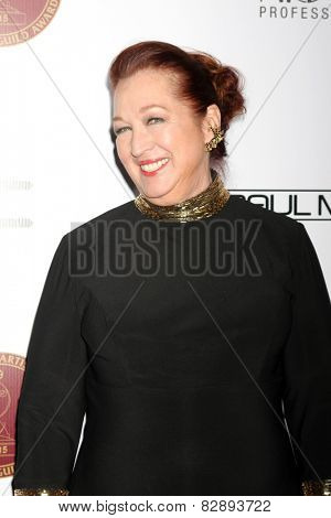 LOS ANGELES - FEB 14:  Sue Cabral-Ebert at the 2015 Make-up and Hair Stylists Guild Awards at a Paramount Theater on February 14, 2015 in Los Angeles, CA