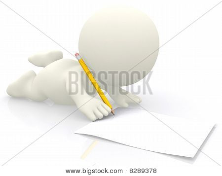 3D Person Writing