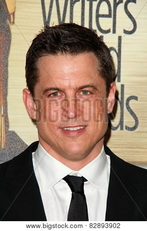 LOS ANGELES - FEB 14:  Jason Hall at the 2015 Writers Guild Awards at a Century Plaza Hotel on February 14, 2015 in Century City, CA
