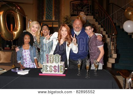 LOS ANGELES - FEB 12:  Jessie Cast at the Disney Channel's