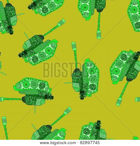 No war, seamless pattern. hippie background. world peace