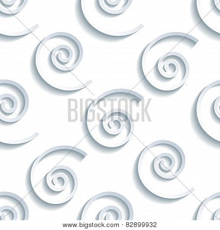 Seamless Pattern With 3D Grey Waves