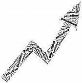 stock photo of palladium  - Palladium commodity price growth - JPG