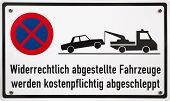picture of truck-stop  - German stopping restriction sign translation - JPG