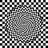 image of hypnotizing  - Black and white hypnotic retro poster  - JPG