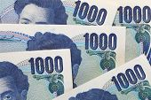 stock photo of yen  - Close  - JPG