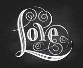 pic of chalkboard  - Love - JPG