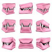 stock photo of storyboard  - 3d models of cat teeth cast - JPG