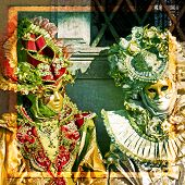 pic of venice carnival  - Carnival of Venice beautiful masks at St - JPG