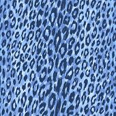 stock photo of leopard  - Vector background of blue leopard skin - JPG