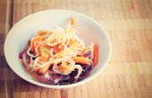 picture of fungus  - Retro filtered Chinese salad with mungo beans and Jew - JPG