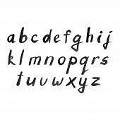 foto of alphabet  - Vector Watercolor Alphabet - JPG