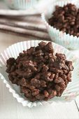 pic of crispy rice  - Chocolate covered crispy rice cakes a favorite childrens party treat - JPG