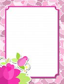 stock photo of corazon  - frame with flowers roses - JPG