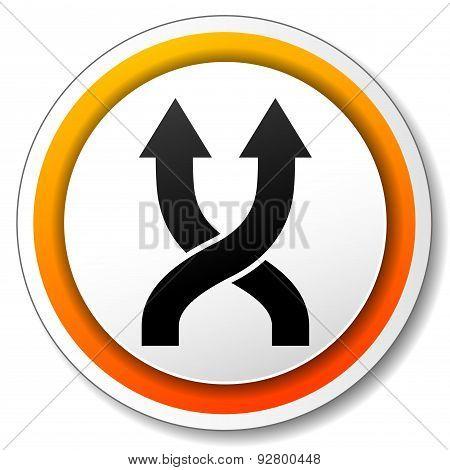 Shuffle Orange Icon