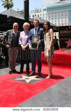 LOS ANGELES - JUN 2:  Michael Symon, Brooke Johnson, Bobby Flay, Sophie Flay at the Bobby Flay Hollywood Walk of Fame Ceremony at the Hollywood Blvd on June 2, 2015 in Los Angeles, CA