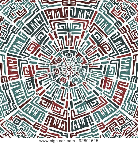 Ethnic round pattern in the peruvian style.