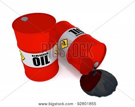 Oil Drums Leaking