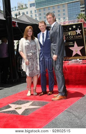 LOS ANGELES - JUN 2:  Bobby Flay, business associates at the Bobby Flay Hollywood Walk of Fame Ceremony at the Hollywood Blvd on June 2, 2015 in Los Angeles, CA