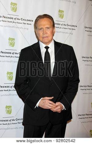 LOS ANGELES - JUN 2:  Lee Majors at the United Friends of the Children Brass Ring Awards Dinner at the Beverly Hilton Hotel on June 2, 2015 in Beverly Hills, CA