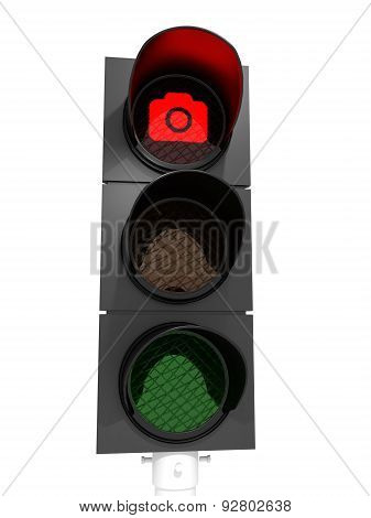 No Pictures Traffic Light