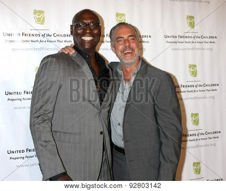LOS ANGELES - JUN 2:  Lance Reddick, Titus Welliver at the United Friends of the Children Brass Ring Awards Dinner at the Beverly Hilton Hotel on June 2, 2015 in Beverly Hills, CA