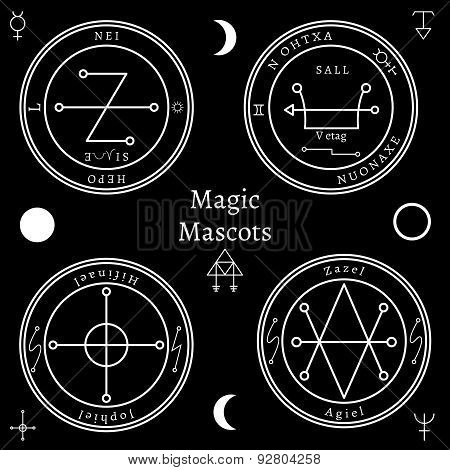 Astrological talismans set