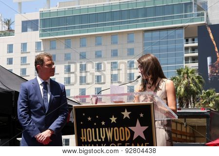 LOS ANGELES - JUN 2:  Bobby Flay, Sophie Flay at the Bobby Flay Hollywood Walk of Fame Ceremony at the Hollywood Blvd on June 2, 2015 in Los Angeles, CA