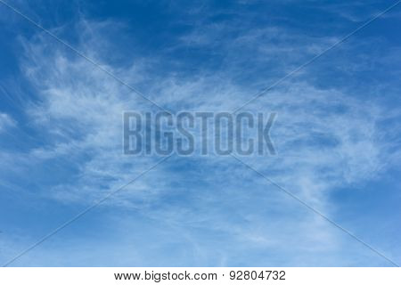 Beauty White Fluffy Clouds In The Blue Sky