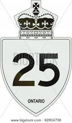 Ontario Highway Shield 25