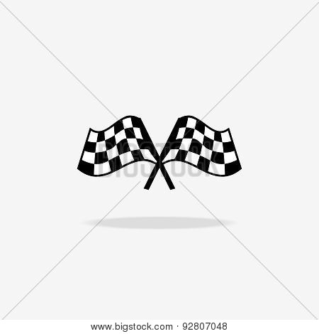Flag icon. Checkered or racing flags