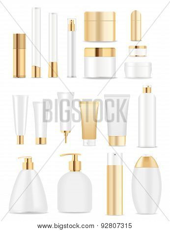 White And Gold Tubes.