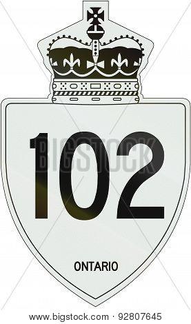 Ontario Highway Shield 102