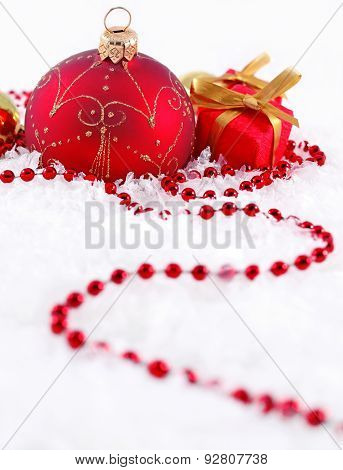 Red  And Golden Christmas Decorations