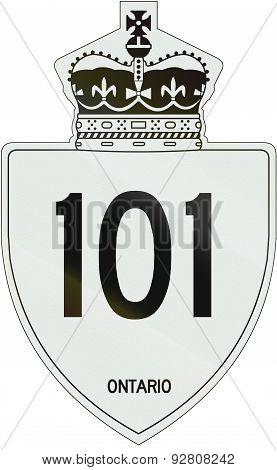 Ontario Highway Shield 101