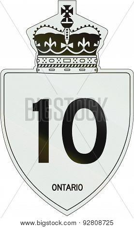 Ontario Highway Shield 10