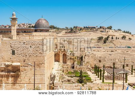 Jerusalem - View On The Mount Of Olives From Al-aqsa Mosque