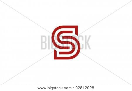 Letter S Logo vector alphabet design element template. ABC concept type as logotype. Typography icon line art
