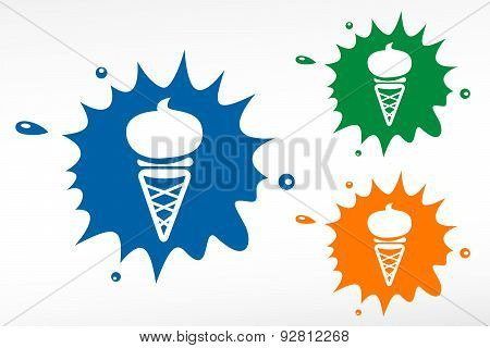 Ice Cream. Color Blob