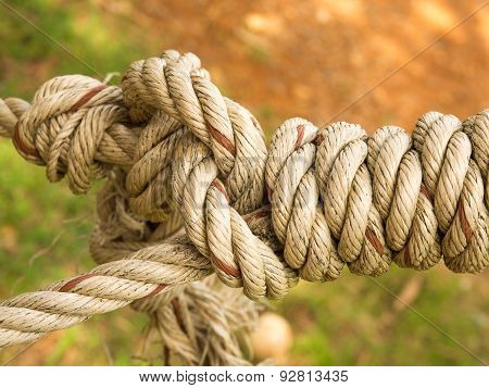 Rope tied with tightly.