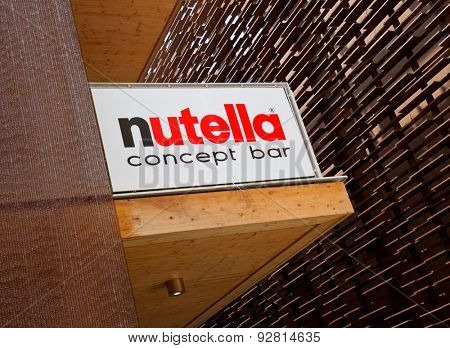 MILAN, ITALY - June 04, 2015:Nutella brand at  EXPO 2015