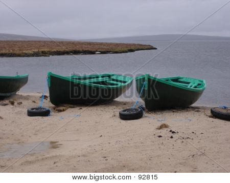 Boats By A Scottish Loch