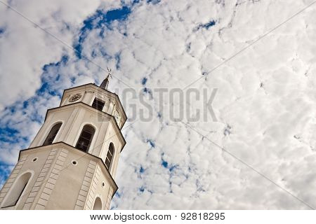 Cathedral's Bell Tower In Vilnius