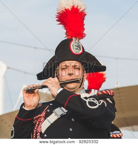 Carabinieri Brass Band Performing At Expo 2015 In Milan, Italy